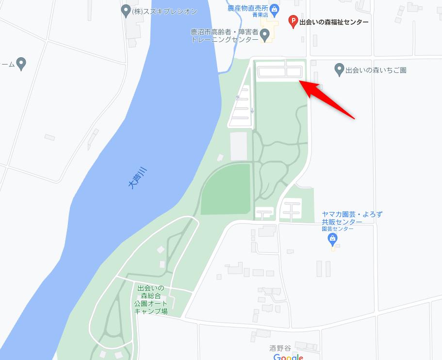 出会いの森の駐車場