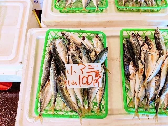 1皿100円のアジ激安