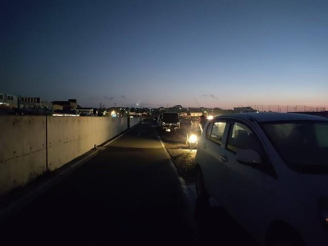 那珂湊の夜明け頃