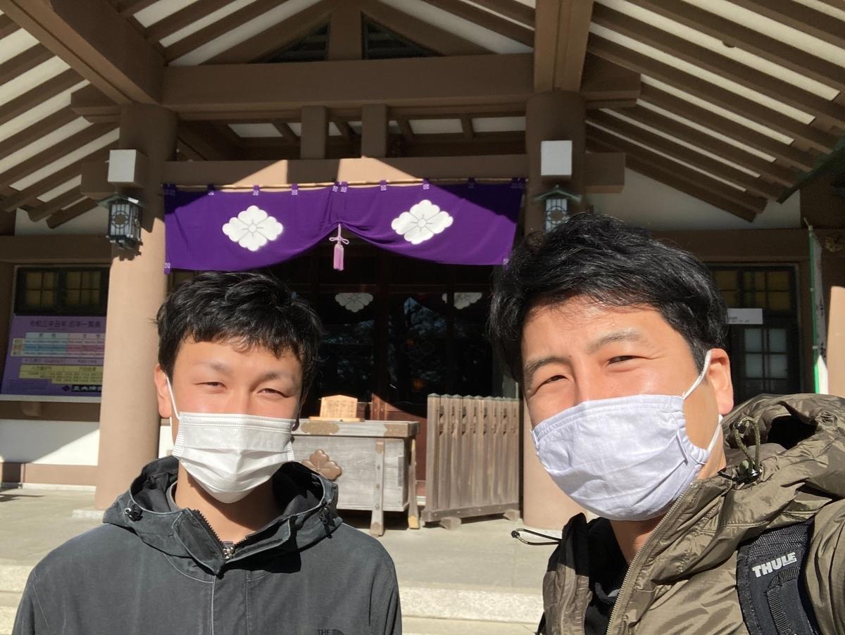 例年通り氏神神社での初詣
