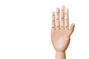 手のひら 開放的