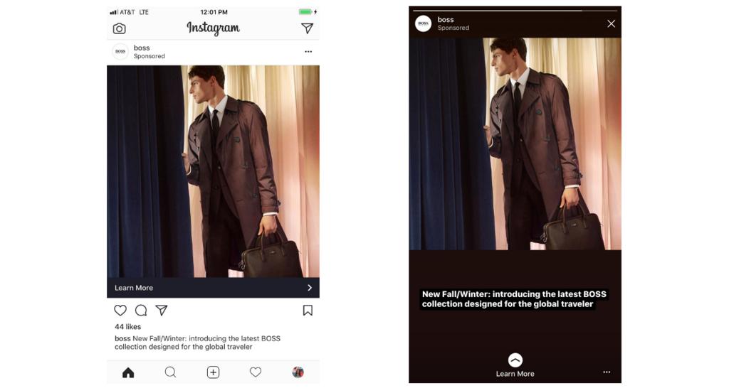 Instagram、縦長フルスクリーン画像への自動調整機能によりInstagramフィードとストーリーズ広告の広告素材が共用化に