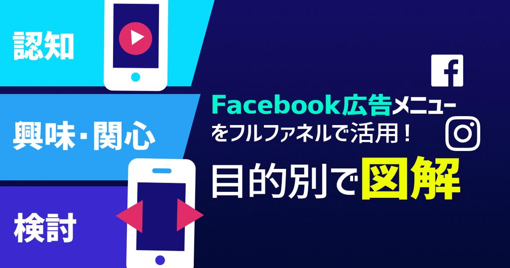 フルファネルで活用!Facebook広告メニューを目的別で図解
