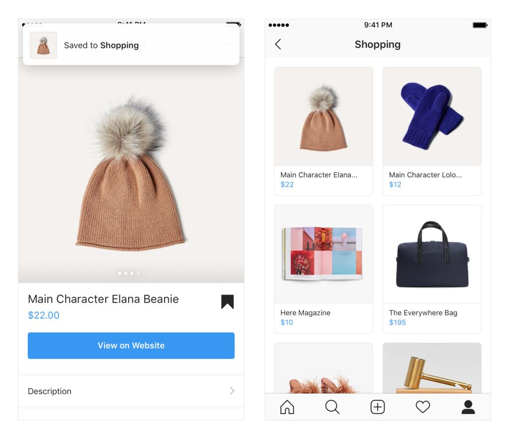 Instagram ショッピングコレクション
