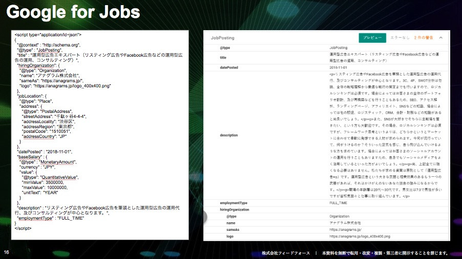 Google for Jobs(Google しごと検索)