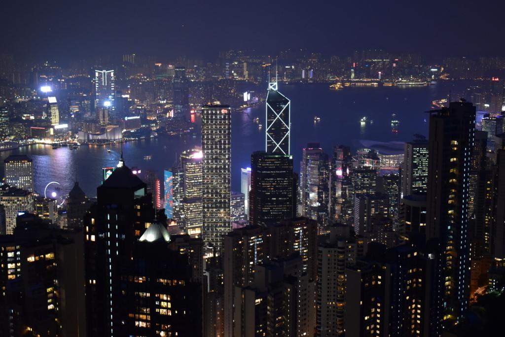 ヴィクトリアピークからの香港夜景