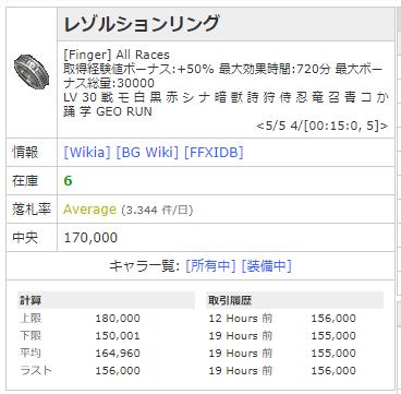 FF11 レゾルションリング
