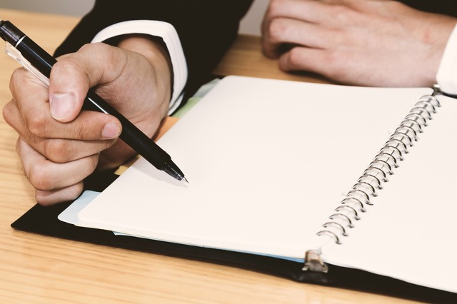 白紙の手帳