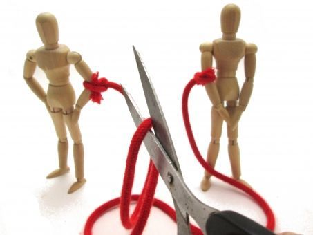 赤い糸を切る