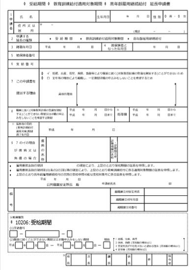 失業 保険 延長 申請