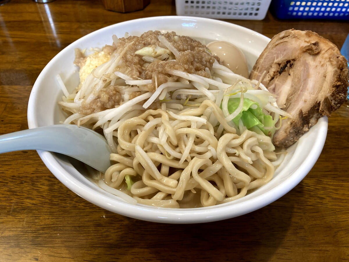 爆麺亭_所沢店の麺1