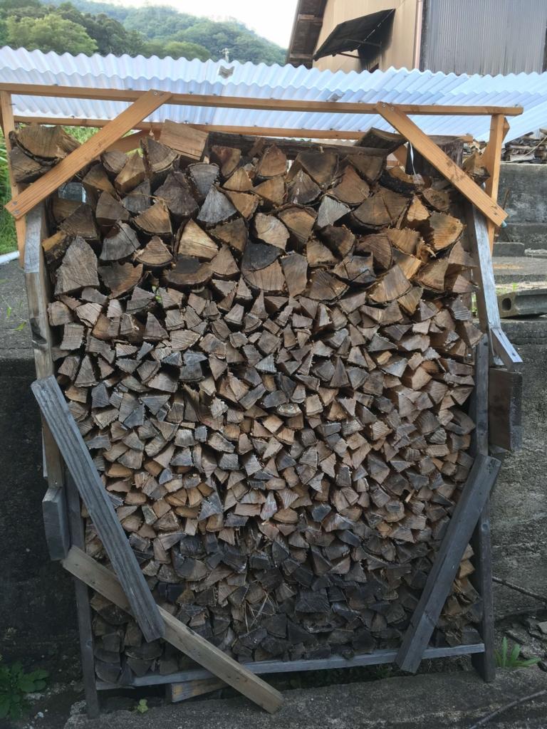 薪山崎の薪棚1