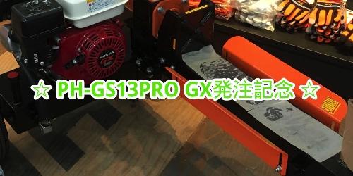 PH-GS13PRO GXを注文した!