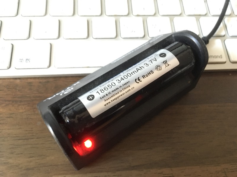 18650バッテリーの充電