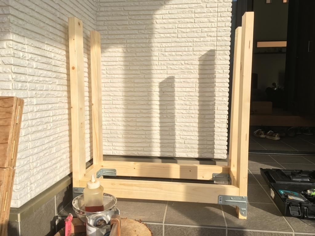 薪山崎のLOG HOLDER 薪ホルダー組立キット薪棚