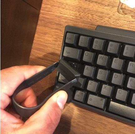 ハッピーハッキンキーボードキートップひきあげる