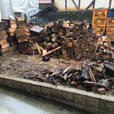 薪山崎の薪場整理前