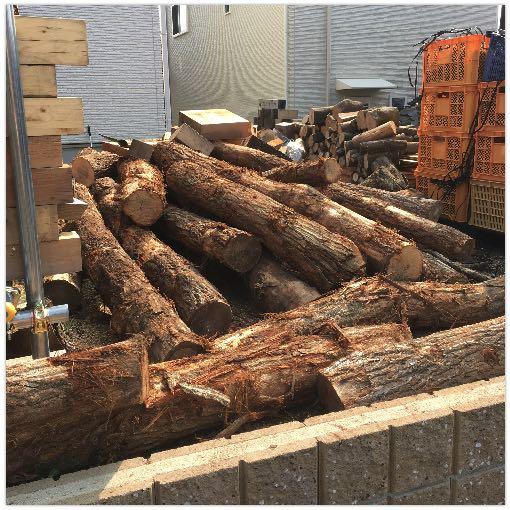 チップ屋さんから購入した薪原木