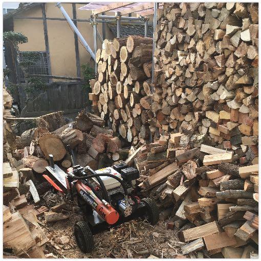 薪山崎の自宅用薪