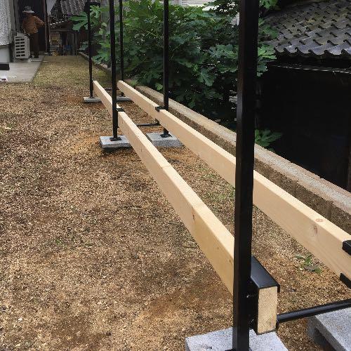 【薪棚】ファイヤーサイドの2×4ログラックは簡単に組み上がります!