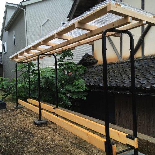 【ファイヤーサイド】ログラックスライドが完成しました!けど、屋根材料は70センチは欲しかった、のと、ほか反省点をいくつか。