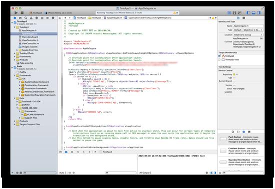 Xcodeの画面