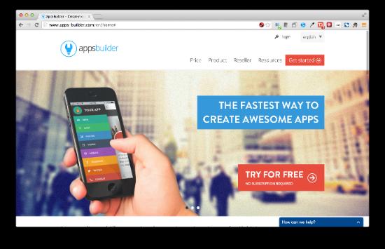 AppsBuilder ウィザード形式で進めるだけでほぼそのままアプリが作れてしまいます。iOS/Androidだけでなく、Chrome Web Storeにも対応しています。