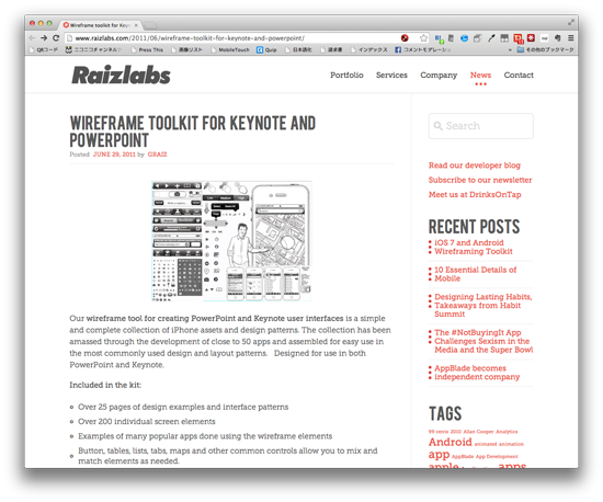 Wireframe toolkit for Keynote and Powerpoint