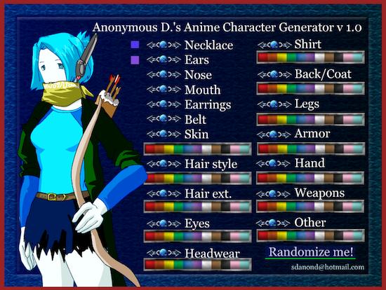 アニメのキャラクタージェネレーター