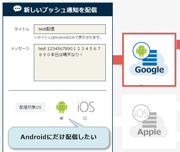 AndroidOS端末への配信テスト