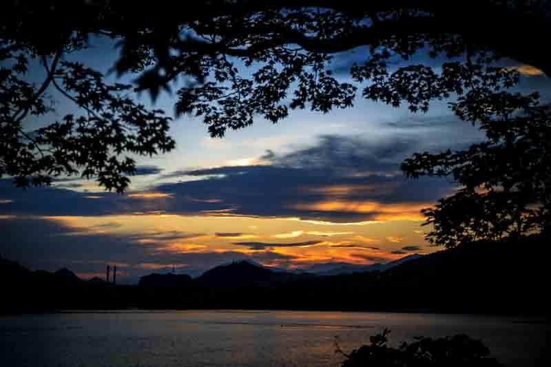 夕焼け 相模湖