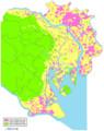 液状化予測図(全域)(C)東京都