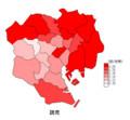 読売(23区の1世帯当たりの取り扱い部数)