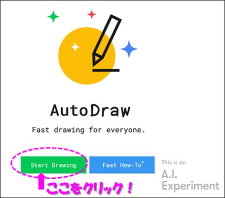 AutoDrawにアクセス