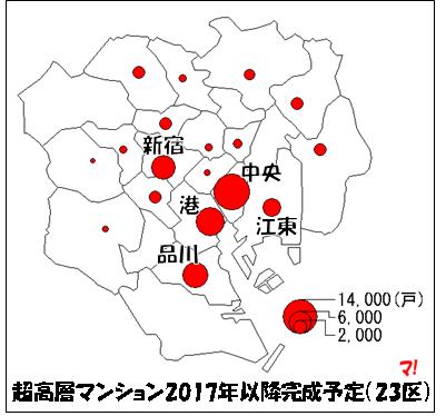 超高層マンション2017年以降完成予定(23区)