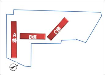 チラシに掲載された配置図