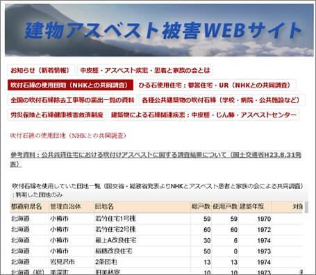 建物アスベスト被害WEBサイト