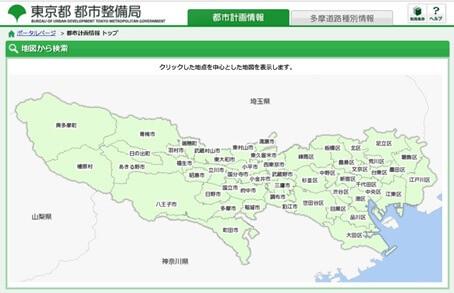 都市計画情報 トップ位置図