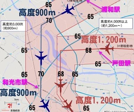浦和駅(埼玉県)周辺の騒音レベル
