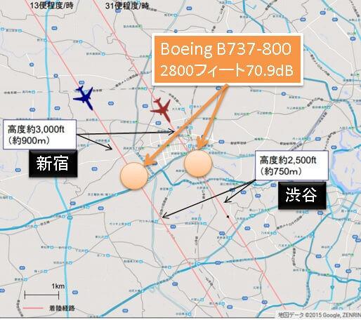 新飛行ルート(新宿・渋谷)