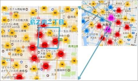 中国系民泊サイト「住百家」に登録されていたのは59件