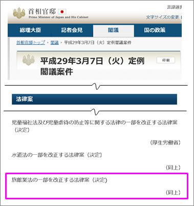 平成29年3月7日(火)定例閣議案件|首相官邸