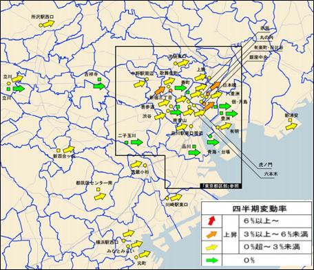 【東京圏地価】約8割の地区が上昇
