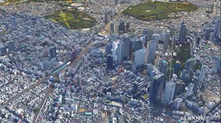 超高層ビル群(新宿区)高度900m(3,000ft)