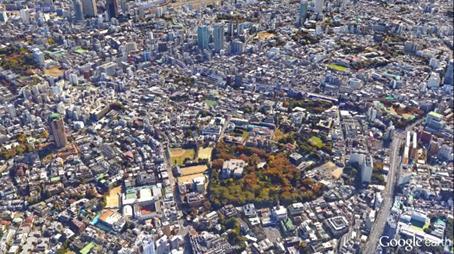 有栖川宮記念公園(港区)高度600m(2,000ft)