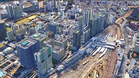 品川駅(港区)高度450m(1,500ft)