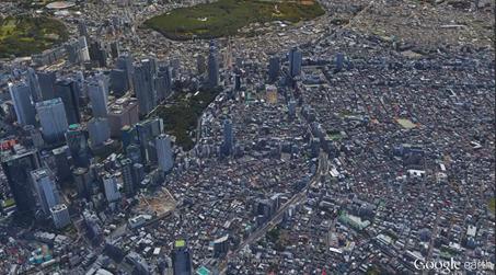 新宿の超高層ビル群915m(3000ft)