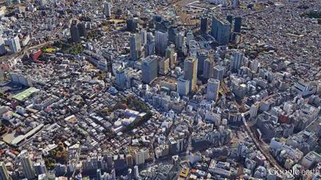 大崎(品川区)の高層ビル群305m(1000ft)