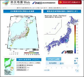 防災地震Web(防災科学技術研究所)