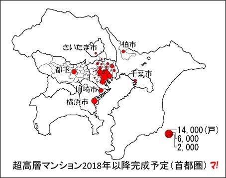 超高層マンション2018年以降完成予定(首都圏)